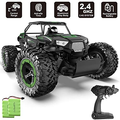 BEZGAR 17 Toy Grade 1:14 Scale Remote Control Car, 2WD High Speed 20 Km/h All Terrains Electric Toy Off Road RC Monster Vehicle Truck Crawler