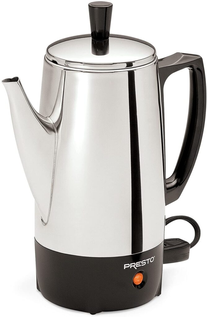 Presto 02822 6-Cup Stainless-Steel Coffee Percolators