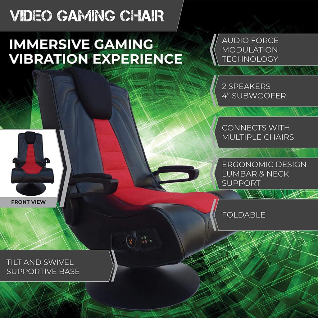 Rocker-Pedestal-Extreme-III-2.1-Sound-Wireless-Video-Foldable-Gaming-Chair